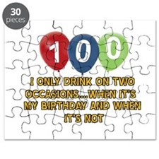 100 year old birthday designs Puzzle