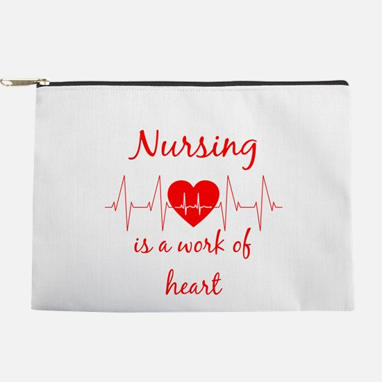Nursing is a work of the Heart Inspir Makeup Pouch