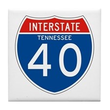 Interstate 40 - TN Tile Coaster