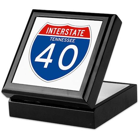 Interstate 40 - TN Keepsake Box