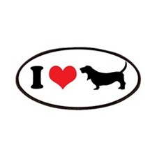 I Heart Basset Hounds Patches