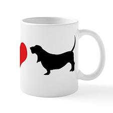 I Heart Basset Hounds Mug