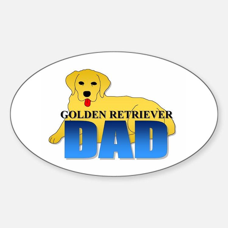 Golden Retriever Dad Oval Decal