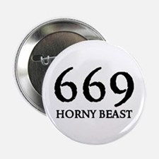 "669 HORNY BEAST 2.25"" Button (10 pack)"