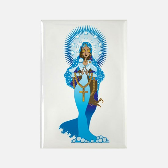 The Virgin Mary Rectangle Magnet