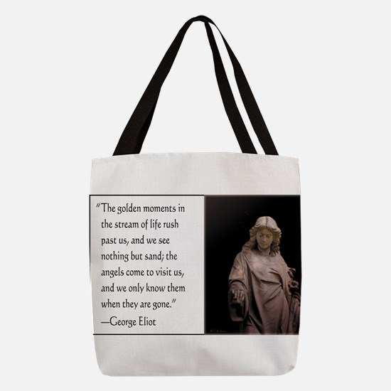 Angels Come to Visit Polyester Tote Bag