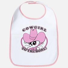 Cowgirl Skull Bib