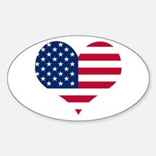 American Heart Oval Decal