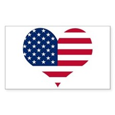 American Heart Rectangle Decal