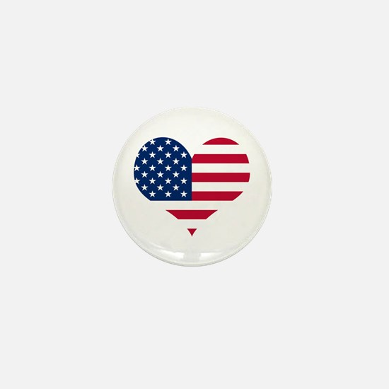 American Heart Mini Button