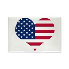 American Heart Rectangle Magnet