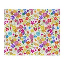 Flower Field Throw Blanket