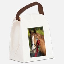 Christmas Horse Canvas Lunch Bag