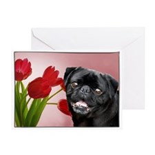 Thank You pug card Greeting Card