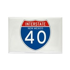 Interstate 90 - WY Rectangle Magnet