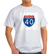 Interstate 90 - WY Ash Grey T-Shirt