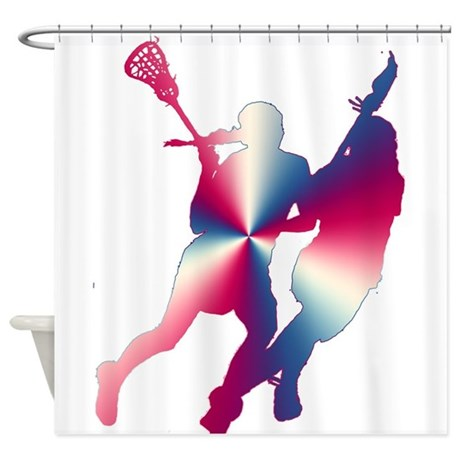Lacrosse Red White And Blue Shower Curtain By LaxStore
