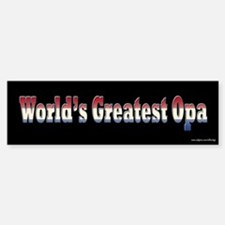 World's Greatest Opa S - Dutch Bumper Bumper Bumper Sticker