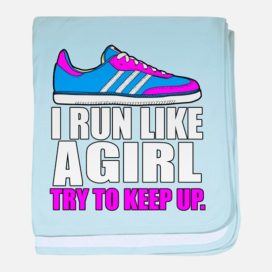 Run Like A Girl baby blanket