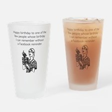 Without Facebook Reminder Drinking Glass