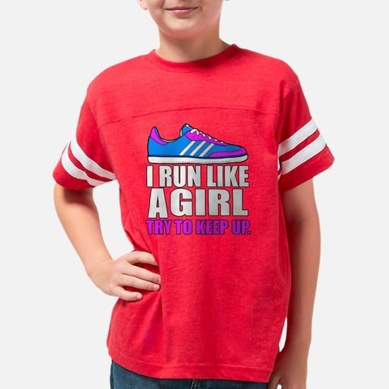 Run Like A Girl Youth Football Shirt