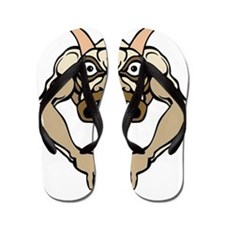 Horned Demon Monster Flip Flops