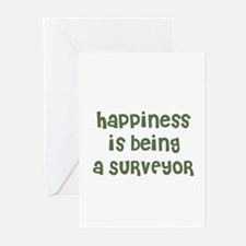 Happiness is being a SURVEYOR Greeting Cards (Pack