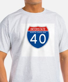 Interstate 40 - NC Ash Grey T-Shirt