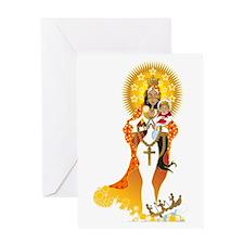 La Virgen de la Caridad del Cobre Greeting Card