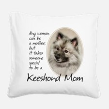 Keeshond Mom Square Canvas Pillow