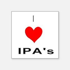 I heart IPAs Sticker