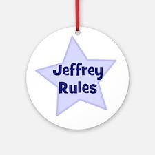 Jeffrey Rules Ornament (Round)