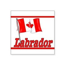 Canada Flag - Labrador Rectangle Sticker