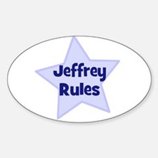 Jeffrey Rules Oval Decal