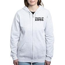 Made In 1951 Zip Hoodie