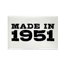 Made In 1951 Rectangle Magnet