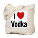 I Love Vodka Tote Bag