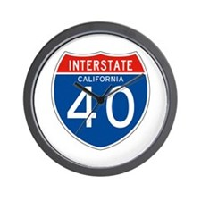 Interstate 40 - CA Wall Clock