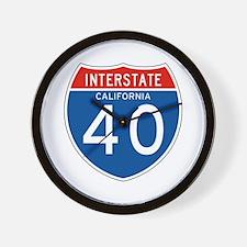 Interstate 40 - CA Wall Clock