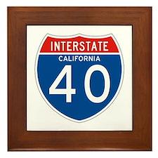 Interstate 40 - CA Framed Tile