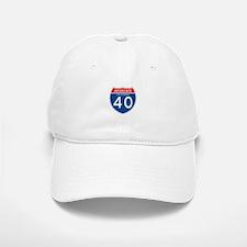 Interstate 40 - CA Baseball Baseball Cap
