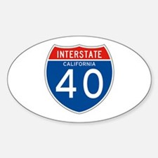 Interstate 40 - CA Oval Decal
