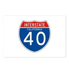 Interstate 40 - CA Postcards (Package of 8)