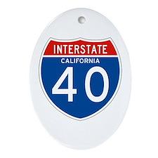 Interstate 40 - CA Oval Ornament