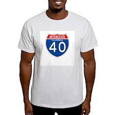 Interstate 40 - CA Ash Grey T-Shirt