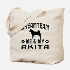 Akita Dog Designs Tote Bag