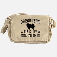 American Eskimo Dog Designs Messenger Bag