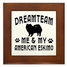 American Eskimo Dog Designs Framed Tile