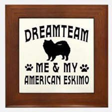 American Eskimo Dog Designs Framed Tile