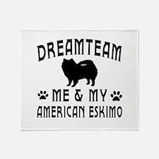 American Eskimo Dog Designs Throw Blanket